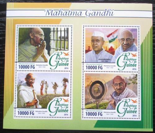 Poštovní známky Guinea 2016 Mahátma Gándhí Mi# 11731-34 Kat 16€