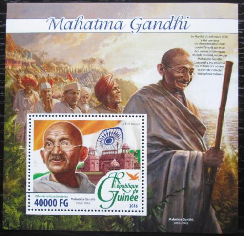 Poštovní známka Guinea 2016 Mahátma Gándhí Mi# Block 2642 Kat 16€