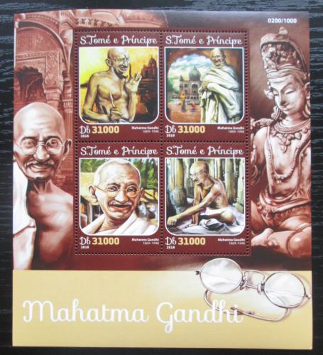 Poštovní známky Svatý Tomáš 2016 Mahátma Gándhí Mi# 6671-74 Kat 12€