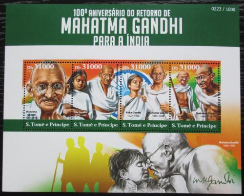 Poštovní známky Svatý Tomáš 2015 Mahátma Gándhí Mi# 6238-41 Kat 12€