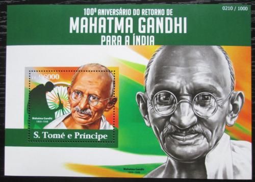 Poštovní známka Svatý Tomáš 2015 Mahátma Gándhí Mi# Block 1101 Kat 10€