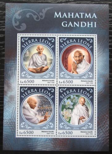 Poštovní známky Sierra Leone 2016 Mahátma Gándhí Mi# 7678-81 Kat 12€