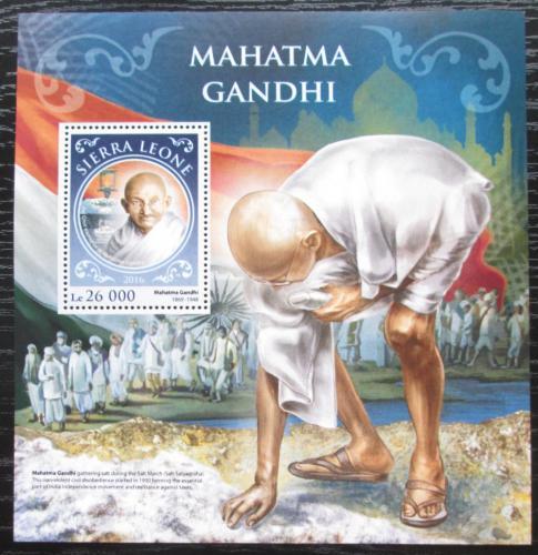 Poštovní známka Sierra Leone 2016 Mahátma Gándhí Mi# Block 1068 Kat 12€