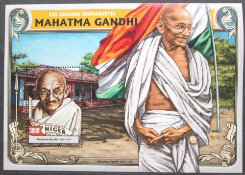 Poštovní známka Niger 2016 Mahátma Gándhí Mi# Block 565 Kat 12€