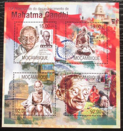 Poštovní známky Mosambik 2013 Mahátma Gándhí Mi# 6737-40 Kat 13€