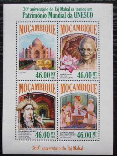 Poštovní známky Mosambik 2013 Mahátma Gándhí a Tádž Mahal Mi# 7047-50 Kat 11€