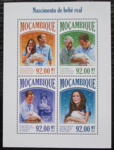 Poštovní známky Mosambik 2013 Narození prince George Mi# 6937-40 Kat 22€