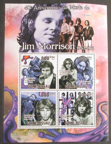 Poštovní známky Guinea-Bissau 2011 The Doors, Jim Morrison Mi# 5278-81 Kat 13€