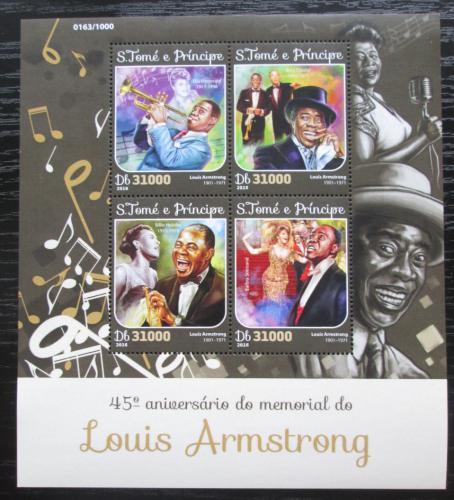 Poštovní známky Svatý Tomáš 2016 Louis Armstrong Mi# 6586-89 Kat 12€