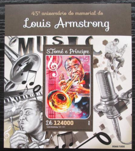 Poštovní známka Svatý Tomáš 2016 Louis Armstrong Mi# Block 1167 Kat 12€