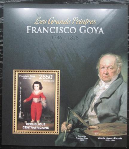 Poštovní známka SAR 2013 Umìní, Francisco Goya Mi# Block 991 Kat 12€