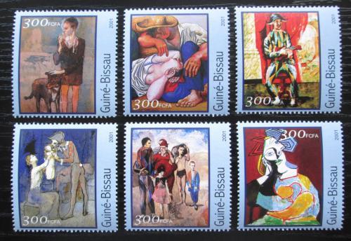 Poštovní známky Guinea-Bissau 2001 Umìní, Pablo Picasso Mi# 1618-23 Kat 8€