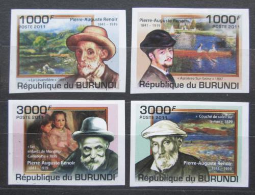 Poštovní známky Burundi 2011 Umìní, Pierre-Auguste Renoir neperf. Mi# 2130-33 B