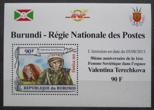 Poštovní známka Burundi 2013 Valentina Tìreškovová DELUXE Mi# 3123 Block