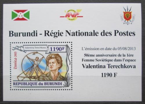 Poštovní známka Burundi 2013 Valentina Tìreškovová DELUXE Mi# 3124 Block