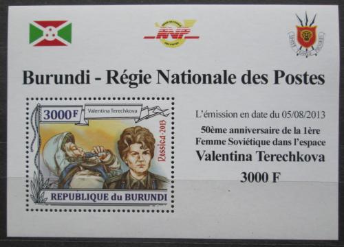 Poštovní známka Burundi 2013 Valentina Tìreškovová DELUXE Mi# 3125 Block