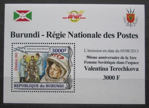 Poštovní známka Burundi 2013 Valentina Tìreškovová DELUXE Mi# 3126 Block