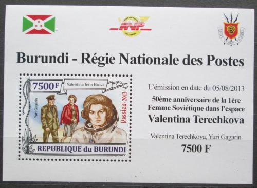 Poštovní známka Burundi 2013 Valentina Tìreškovová DELUXE Mi# 3127 Block