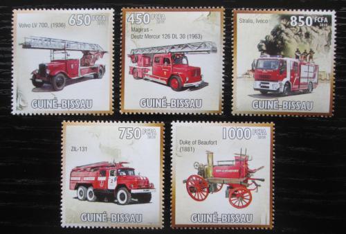 Poštovní známky Guinea-Bissau 2010 Hasièská auta Mi# 4714-18 Kat 13€