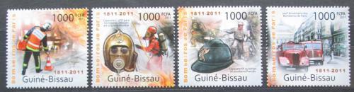 Poštovní známky Guinea-Bissau 2011 Hasièi z Paøíže Mi# 5697-5700 Kat 16€