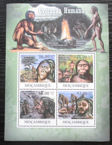 Poštovní známky Mosambik 2011 Evoluce èlovìka Mi# 4469-72 Kat 11€