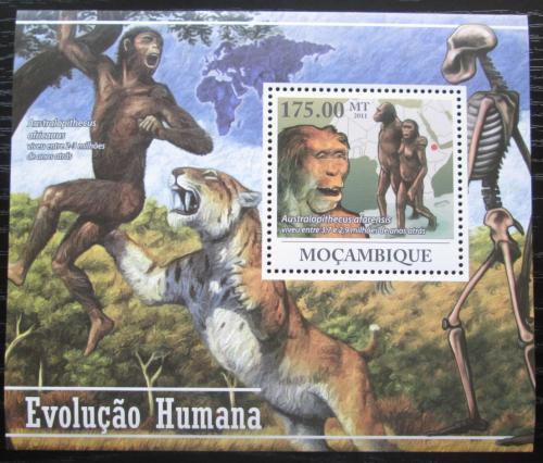 Poštovní známka Mosambik 2011 Evoluce èlovìka Mi# Block 433 Kat 10€