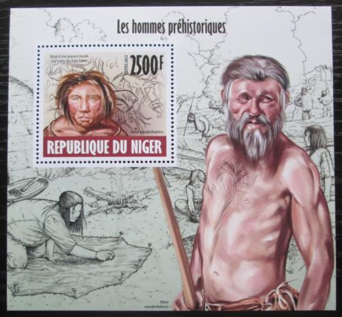 Poštovní známka Niger 2013 Pravìký èlovìk Mi# Block 230 Kat 10€