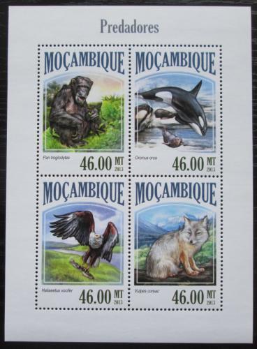 Poštovní známky Mosambik 2013 Masožravci Mi# 6972-75 Kat 11€