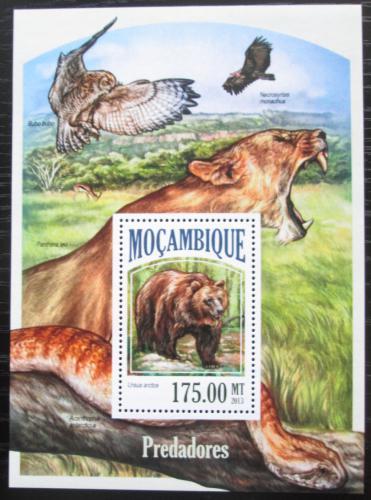 Poštovní známka Mosambik 2013 Masožravci Mi# Block 834 Kat 10€