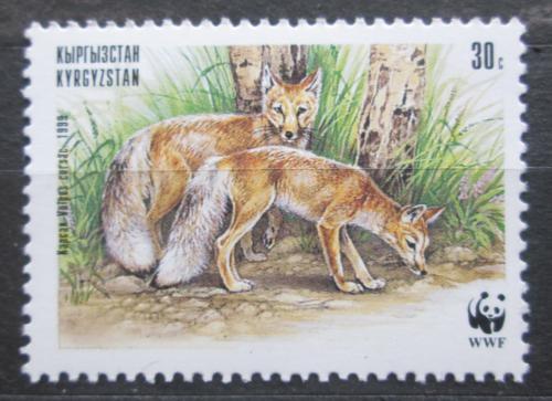 Poštovní známka Kyrgyzstán 1999 Korsak, WWF Mi# 170
