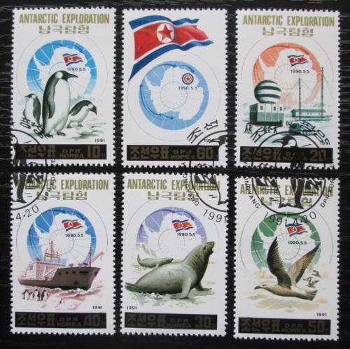 Poštovní známky KLDR 1991 Prùzkum Antarktidy Mi# 3200-04