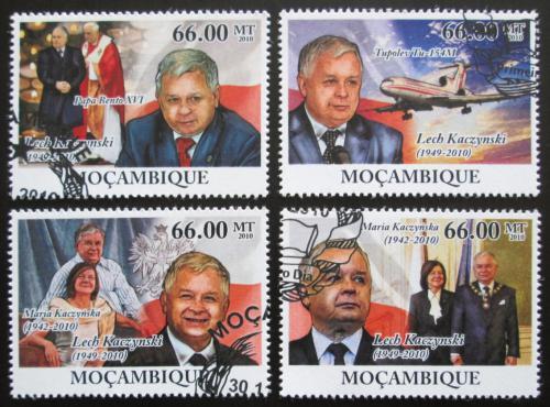 Poštovní známky Mosambik 2010 Prezident Lech Kaczyòski Mi# 4245-49 Kat 15€