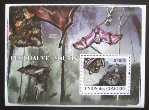 Poštovní známka Komory 2009 Netopýøi, WWF Mi# Block 488 Kat 15€