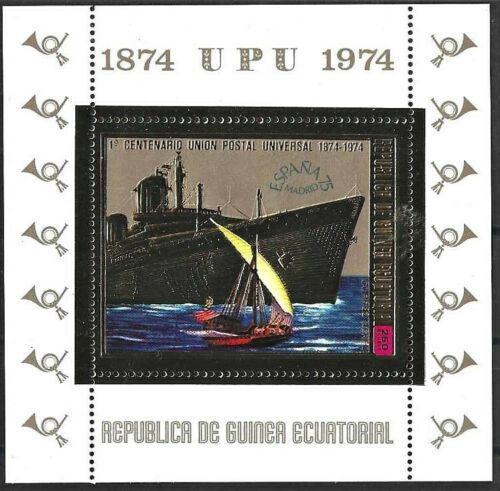 Poštovní známka Rovníková Guinea 1974 UPU, lodì Mi# Block 141 Kat 8.50€