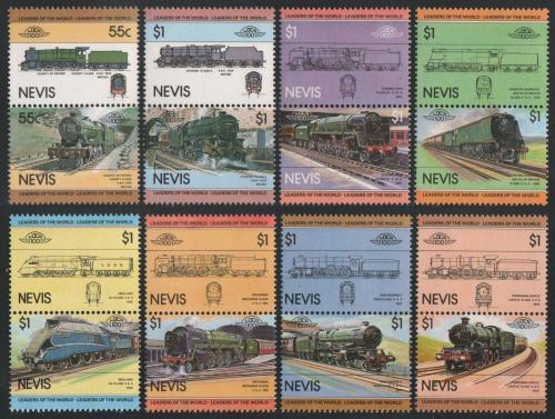 Poštovní známky Nevis 1983 Lokomotivy Mi# 115-30