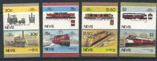 Poštovní známky Nevis 1986 Lokomotivy Mi# 340-47