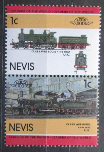 Poštovní známky Nevis 1985 Lokomotivy Mi# 260-61