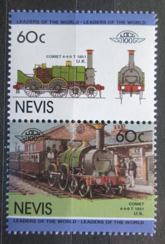 Poštovní známky Nevis 1985 Lokomotivy Mi# 262-63