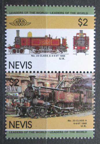 Poštovní známky Nevis 1985 Lokomotivy Mi# 266-67