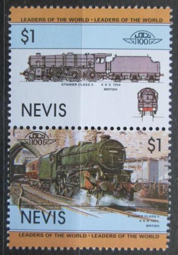 Poštovní známky Nevis 1985 Lokomotivy Mi# 123-24