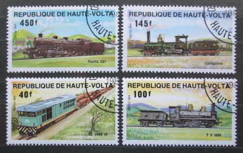 Poštovní známky Horní Volta 1984 Lokomotivy Mi# 968-71