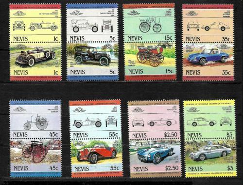 Poštovní známky Nevis 1984 Automobily Mi# 148-63