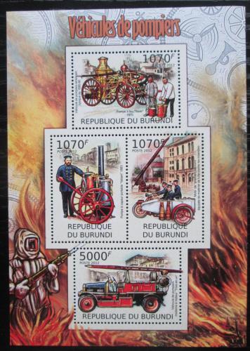 Poštovní známky Burundi 2012 Hasièi Mi# 2421-24 Kat 10€