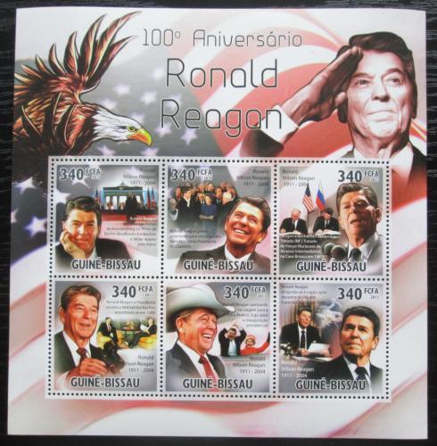 Poštovní známky Guinea-Bissau 2011 Prezident Ronald Reagan Mi# 5346-51 Kat 12€