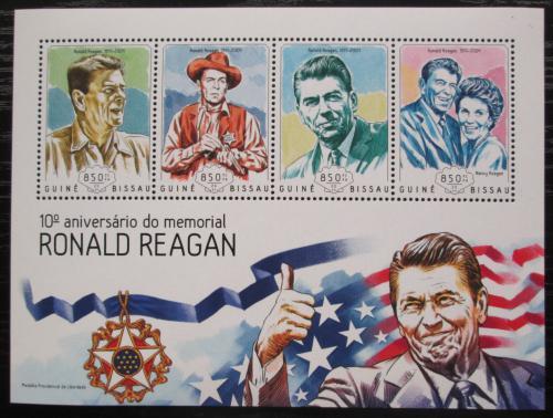 Poštovní známky Guinea-Bissau 2014 Prezident Ronald Reagan Mi# 7306-09 Kat 14€