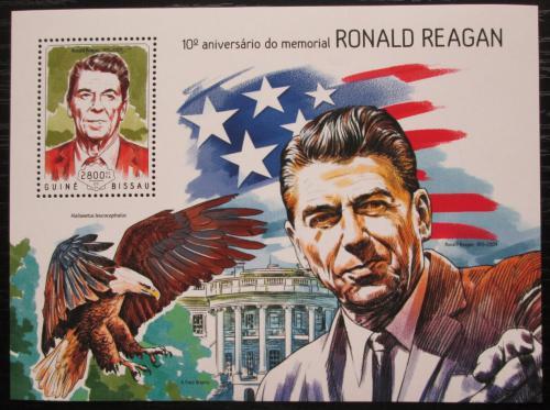 Poštovní známka Guinea-Bissau 2014 Prezident Ronald Reagan Mi# Block 1280 Kat 11€