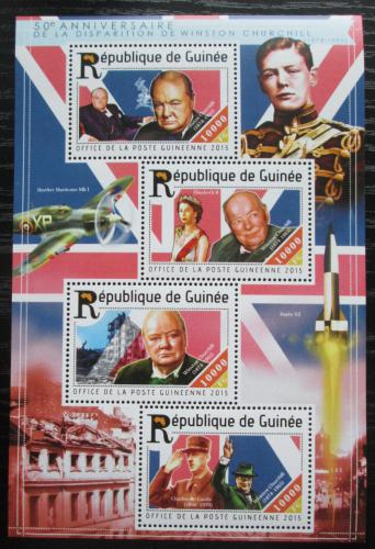 Poštovní známky Guinea 2015 Winston Churchill Mi# 11128-31 Kat 16€