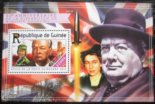 Poštovní známka Guinea 2015 Winston Churchill Mi# Block 2522 Kat 14€