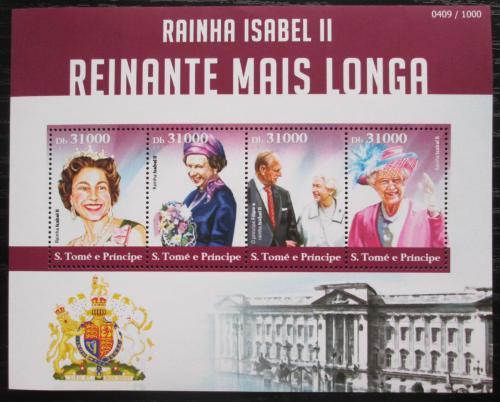 Poštovní známky Svatý Tomáš 2015 Královna Alžbìta II. Mi# 6268-71 Kat 12€