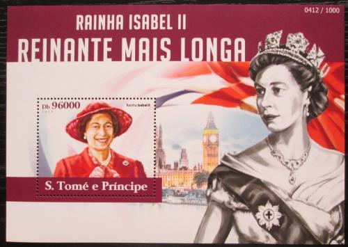 Poštovní známka Svatý Tomáš 2015 Královna Alžbìta II. Mi# Block 1107 Kat 10€